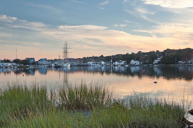 The historic seaport in Mystic