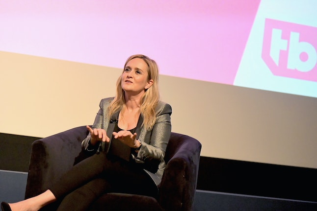 Executive producer and host Samantha Bee speaks onstage during a 'Full Frontal with Samantha Bee' For Your Consideration event at the WGA Theater on May 24 in Beverly Hills, California.
