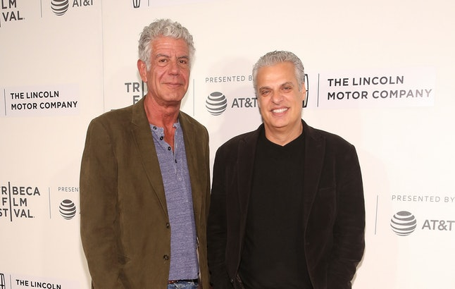 Anthony Bourdain and Eric Ripert at the Tribeca Film Festival in 2017