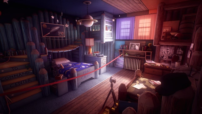 Calvin and Sam's childhood bedroom in 'What Remains of Edith Finch.'