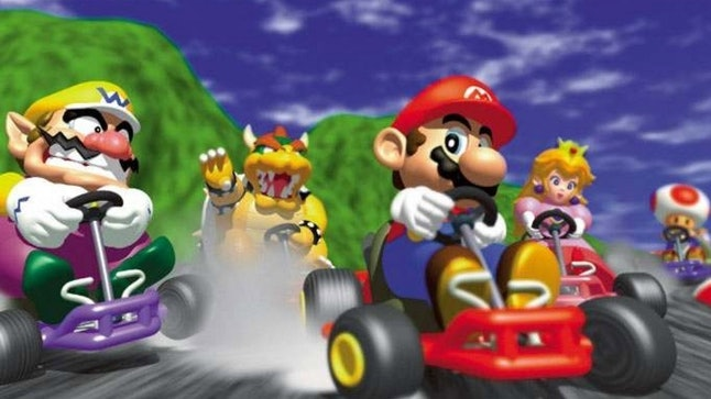 'Mario Kart 64' was the first game in the series to be rendered in 3D.