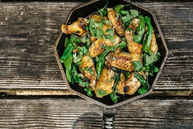 Pan-fried fish-sauce wings