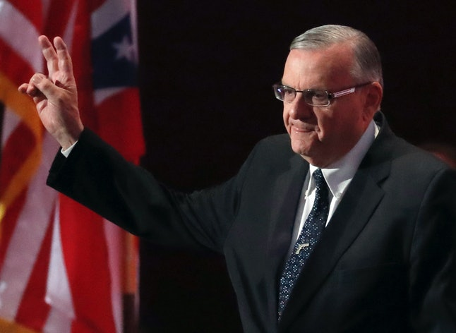 Peace out, Arpaio.