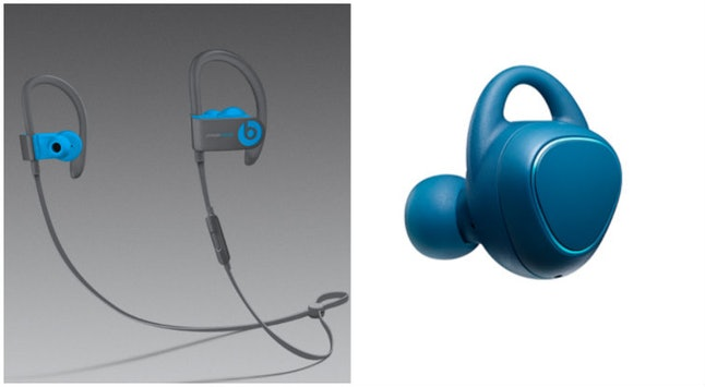 The Beats by Dre headphones and the Samsung headphones