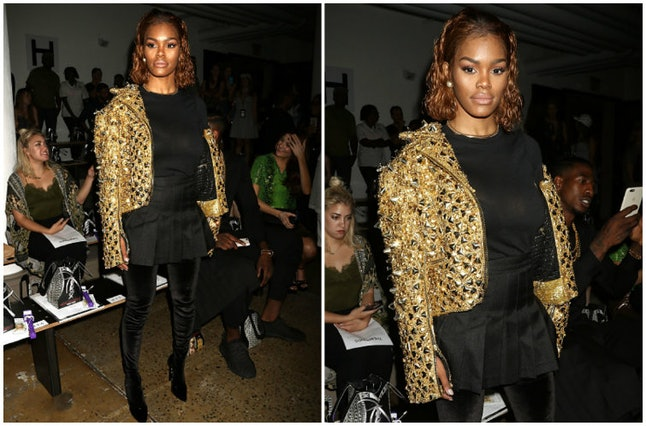 Teyana Taylor at the Blonds show