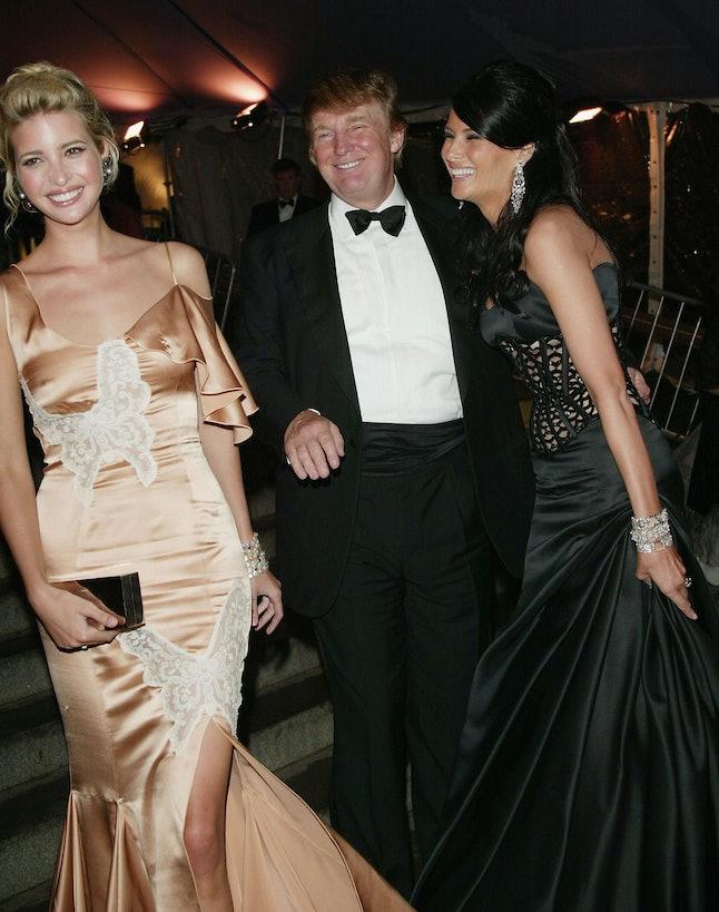 Ivanka Trump, Donald Trump and Melania Trump at the 2004 Met Gala