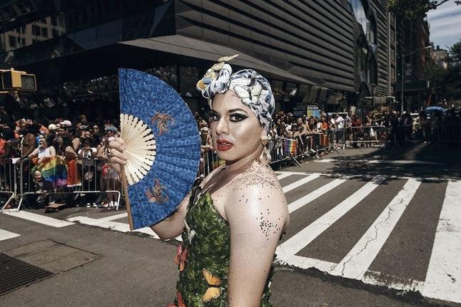 A paradegoer at New York City Pride 2017