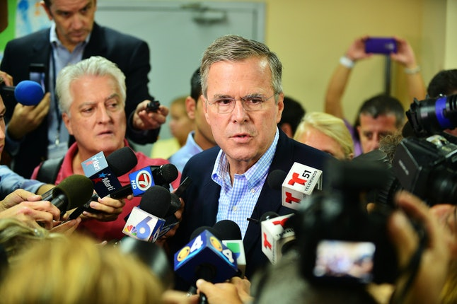 Jeb Bush speaking at a town hall event in Miami, Fla. Sept. 1.