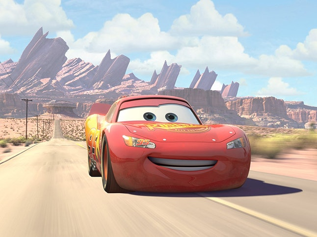 Lighting McQueen, voiced by Owen Wilson, in 'Cars'
