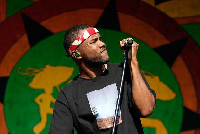 Frank Ocean performing in New Orleans