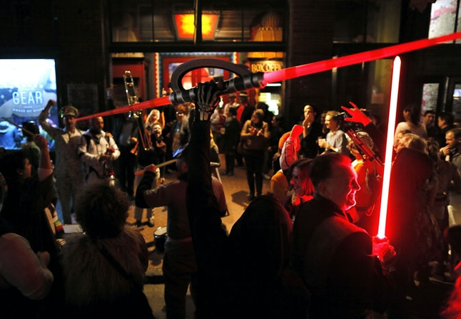 The Intergalactic Krewe of Chewbacchus gathers in New Orleans on Dec. 17 to celebrate the premiere.