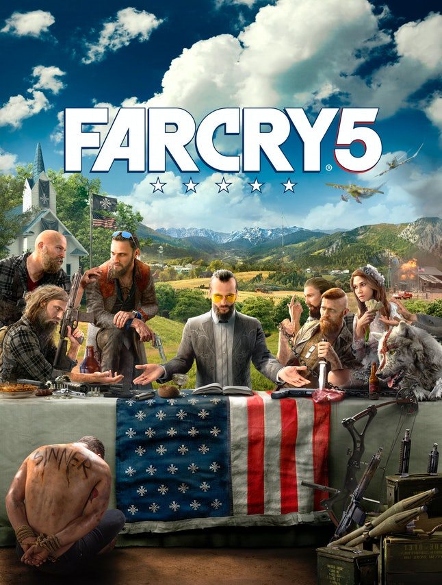 'Far Cry 5' key art seemingly reveals its creepy villains.