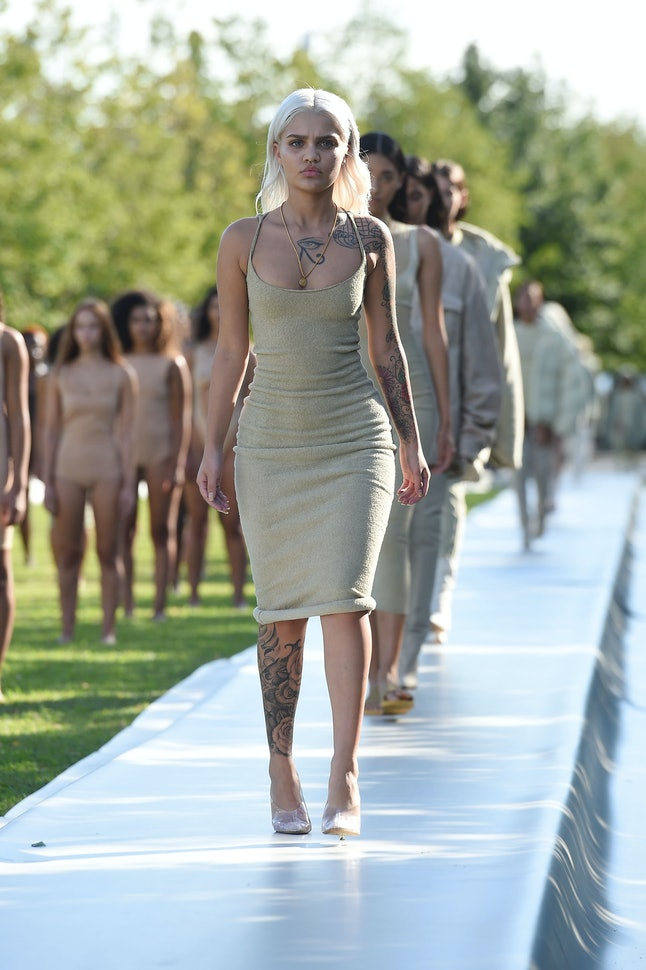 Amina Blue at the Yeezy Season 4 show