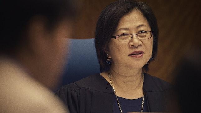 Judge Toko Serita presides over the Queens, New York, human trafficking court.