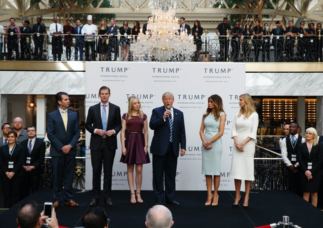 The Trump family appears at the grand opening of the Trump International Hotel in Washington, D.C. in October.
