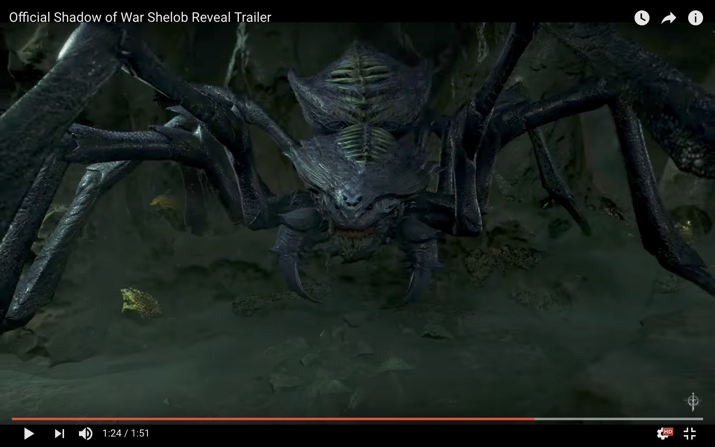 Shadow of War' Shelob: The issue with making a giant spider