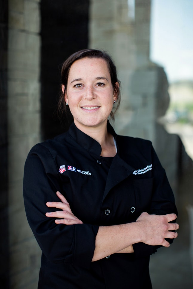 Megan Chacosky is the U.S. Ski and Snowboard Team's dietician-chef.