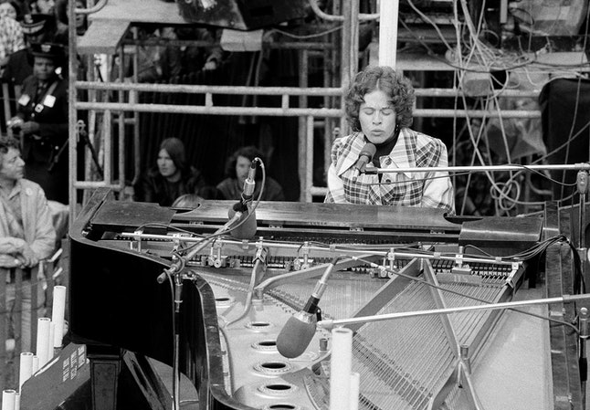 Singer-songwriter Carole King, during her free concert in New York's Central Park on Saturday, May 26, 1973.
