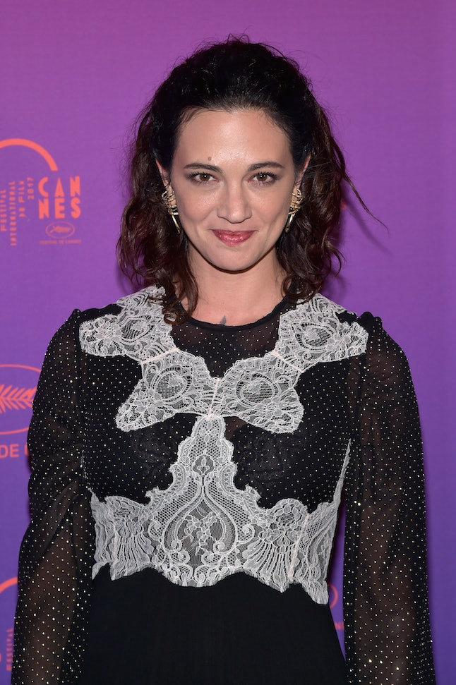 Asia Argento attends a dinner during the 70th annual Cannes Film Festival at Palais des Festivals.