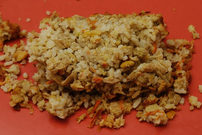 Displayed is a plate of Nutraloaf, served in Pennsylvania prisons in 2013 as a behavior modified meal, at Eastern State Penitentiary in Philadelphia.