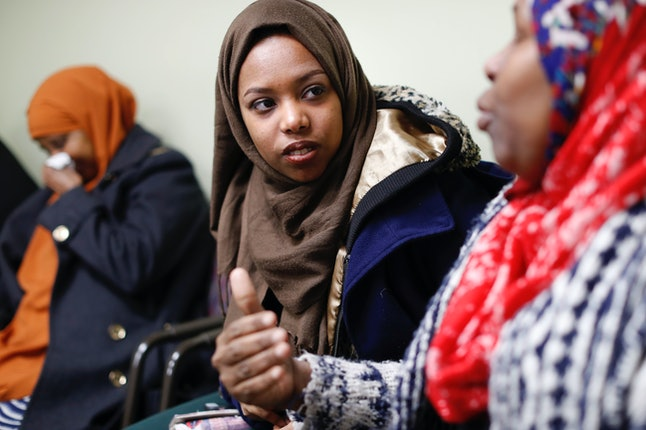 Somali refugees like 20-year-old Sahah Salem (middle) and her mother (right) are being forced to wait to see if their loved ones can join them in the U.S. amid uncertainty created by the Trump administration's proposed travel bans. Columbus has the nation's largest percentage of Somali refugees.