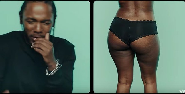 "Kendrick Lamar's video for ""Humble"""