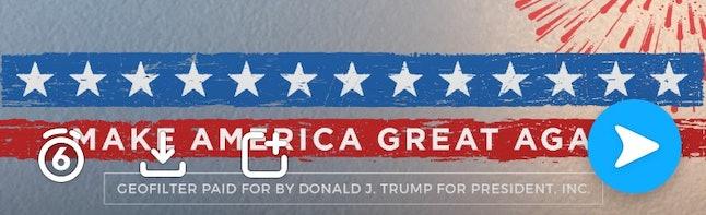 Donald Trump's Snapchat geofilter