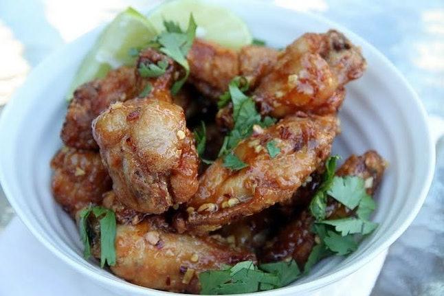 Hanoi-inspired chicken wings