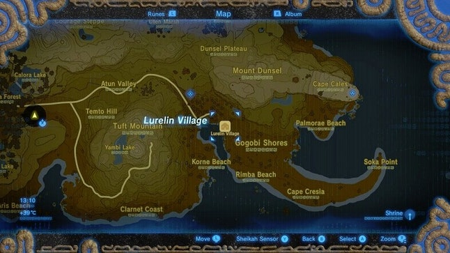 Zelda Breath Of The Wild Lurelin Village Location And Everything Else You Need To Know