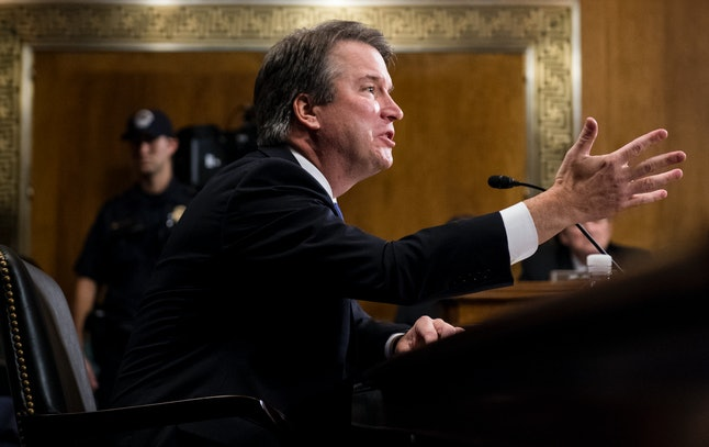 """Brett Kavanaugh claims allegations of sexual misconduct against him are a """"political hit"""" in a Capitol Hill hearing Thursday."""