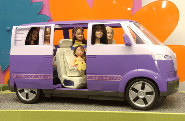 Toy maker Mattel, Inc. featured an extended line of Barbie figures and accessories at the International Toy Fair, February 10, 2002