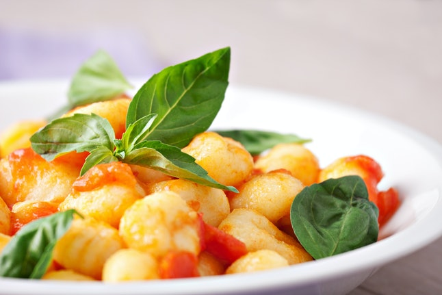 Gnocchi with tomato and basil