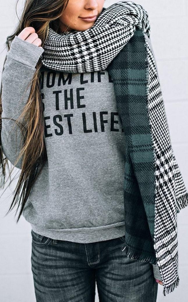 Ily plaid blanket scarf