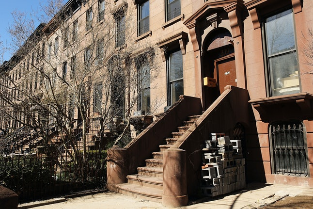 A brownstone reportedly owned by Paul Manafort in the Carroll Gardens neighborhood of Brooklyn, New York