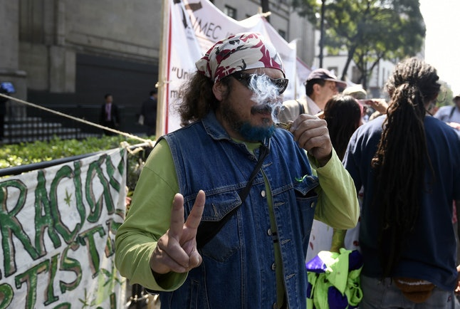 An activist rally outside the Supreme Court in Mexico City on Wednesday