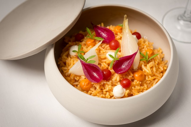 Jollof is served as a side dish at Kith and Kin in Washington, D.C.