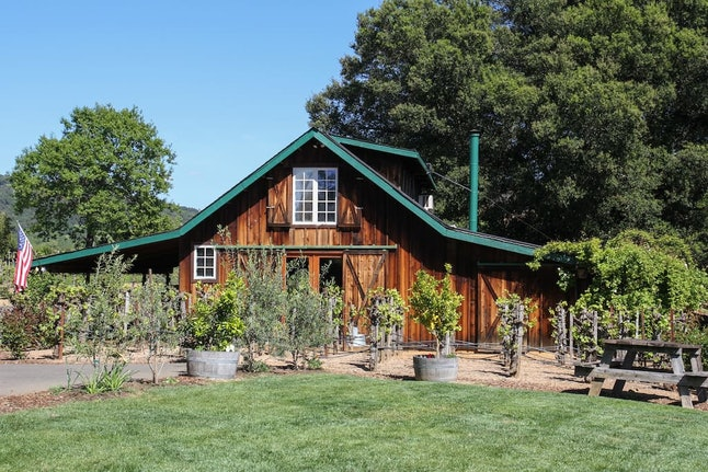 Enjoy wines made right from the property in Healdsburg, California.