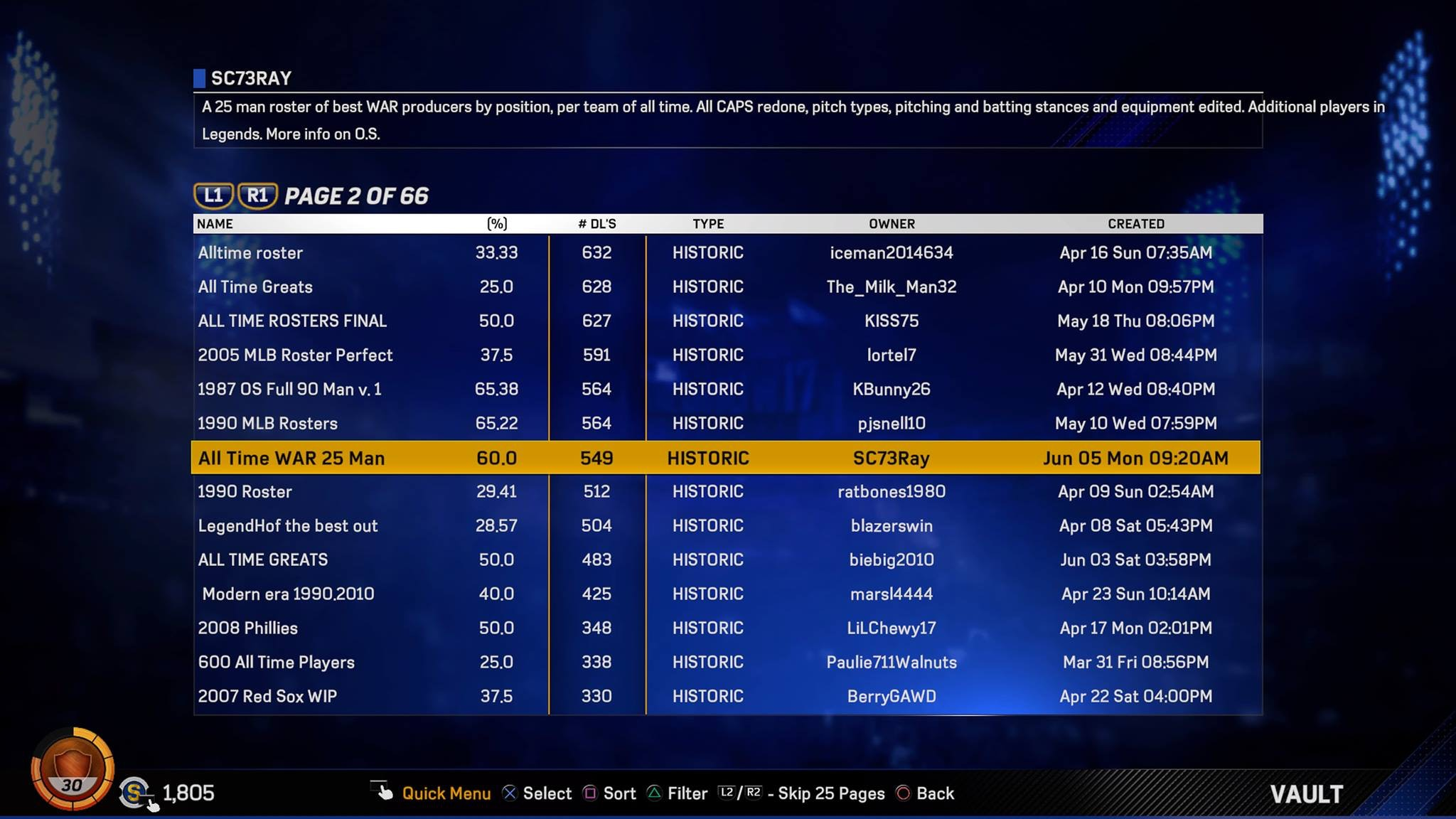 MLB The Show 17' Classic Roster: How to download massive list of legends