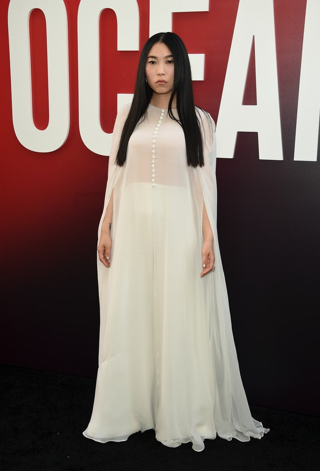 Awkwafina attends the world premiere of 'Ocean's 8'