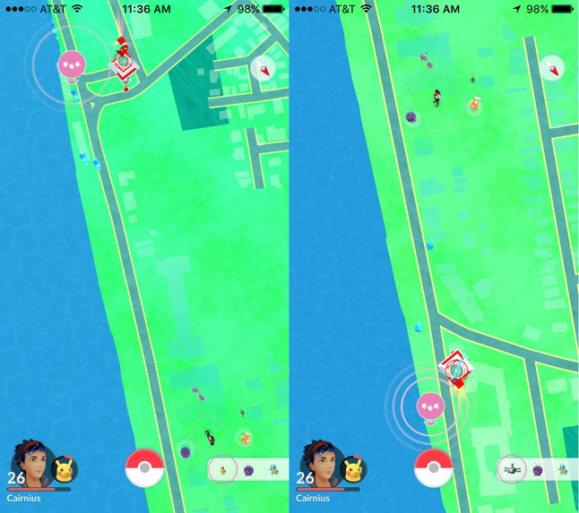 """Are either of these """"nearby"""" PokéStops actually nearby? What if the closest PokéStop is still a distance away?"""