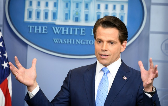 Anthony Scaramucci speaks during a White House press conference July 21.