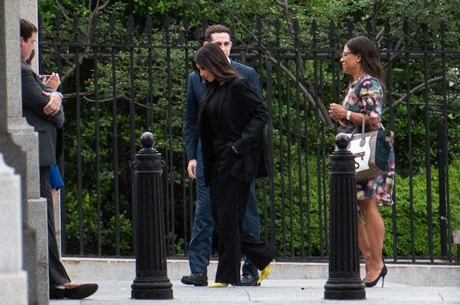 Kim Kardashian Weset entering the White House