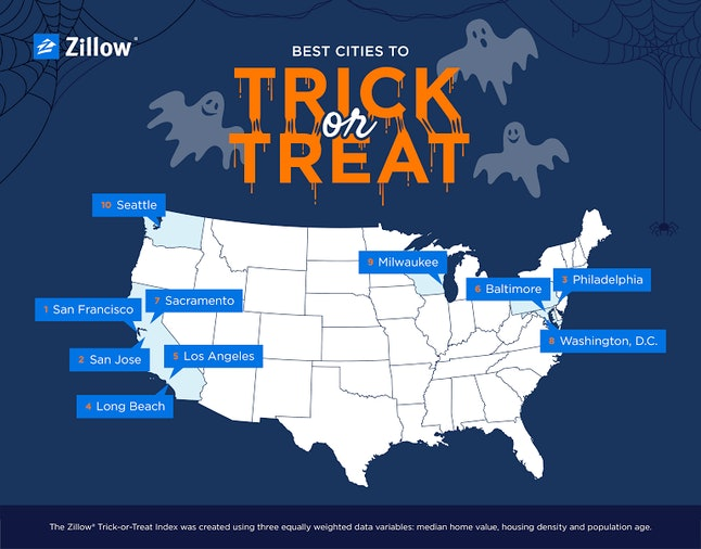 These are the cities and states where you can get the most candy for the least amount of walking.
