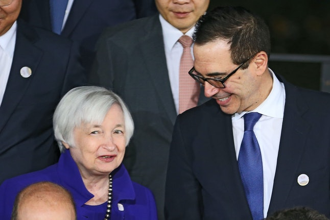 Federal Reserve Board Chair Janet Yellen and Treasury Secretary Steven Mnuchin are two of the most important U.S. economic policy makers.