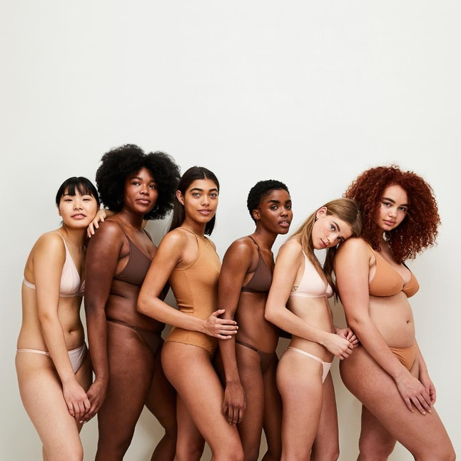 Asos' campaign for its new nude lingerie line, featuring model Sonny Turner on the far right
