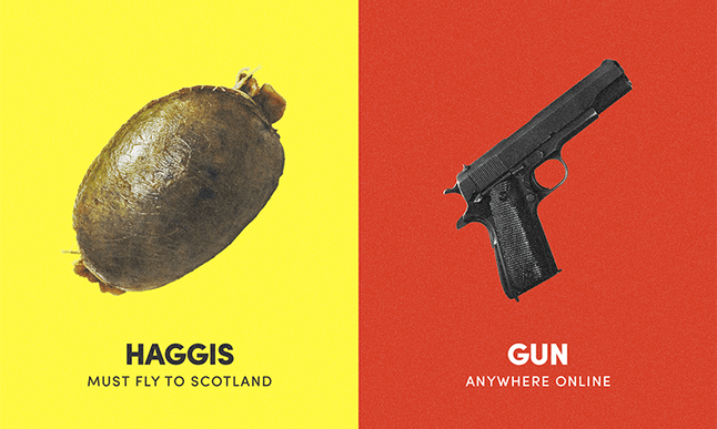 Haggis is illegal in the States.