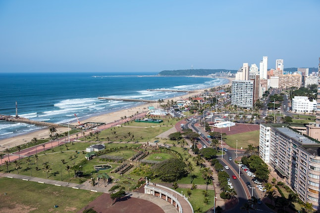 The port city of Durban, on the east coast of South Africa