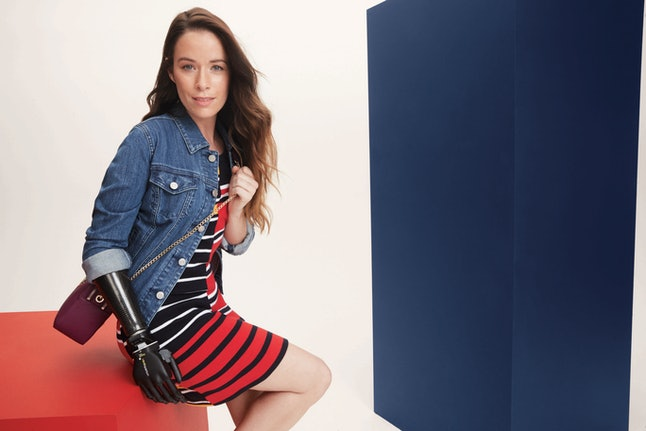 A model wearing the Tommy Adaptive collection