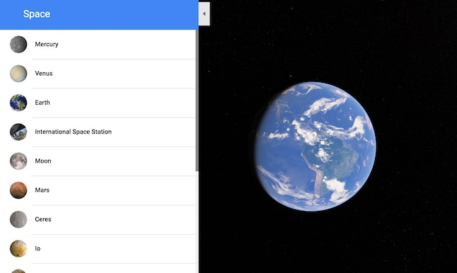 With Google Maps, you see what it looks like aboard the International Space Station.