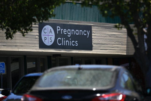 A College Area Pregnancy Services (CAPS) clinic is seen Tuesday, June 26, 2018.